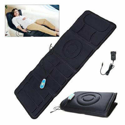 Full Body Heated Massage Mat Mattress, Flat Back Heat Therapy Massager