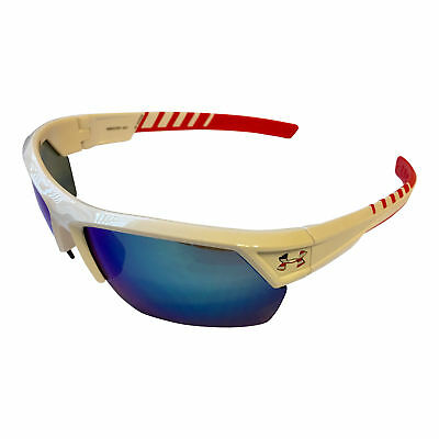 9a8e37d404c NEW Under Armour Igniter 2.0 Sunglasses UA Satin Red White Blue USA Multi  Mirror