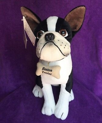 "BOSTON TERRIER 13"" TALL DREAM PLAY DOGGIE COLLECTION with tag"