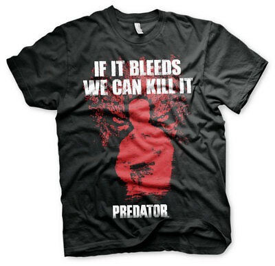 Officially Licensed Predator- If It Bleeds Men's T-Shirt S-XXL Sizes