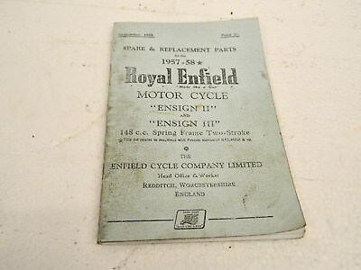 ROYAL ENFIELD 148cc ENSIGN  II, & III spare & replacement parts ref 754