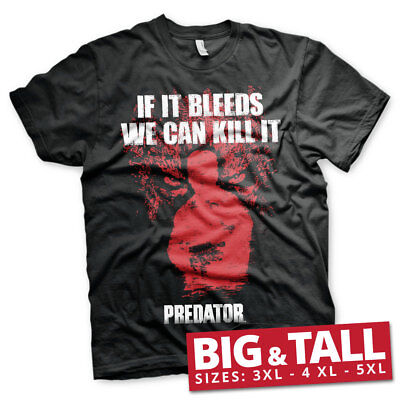 Officially Licensed Predator- If It Bleed Big & Tall 3XL, 4XL, 5XL Men's T-Shirt