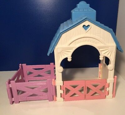 Fisher Price 1993 Loving Family Dream Dollhouse Horse Stable Fence