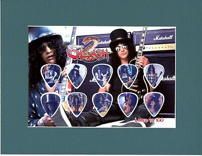 Slash Matted Picture Guitar Pick Set Limited Guns N Roses And Sweet Child Mine
