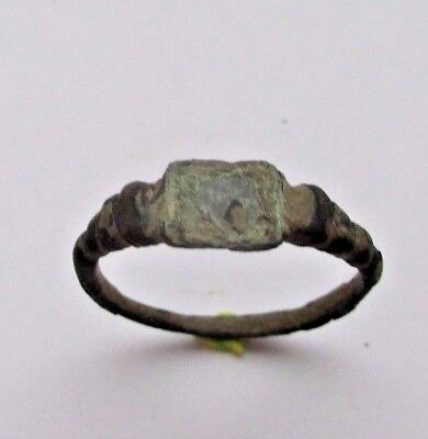 Nice Ancient bronze ring Middle Ages original