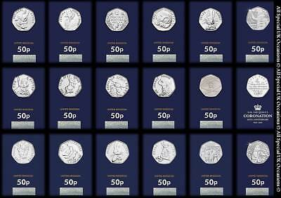 2016 2017 2018 BU 50p Fifty Pence Coins – Beatrix Potter Paddington Bear