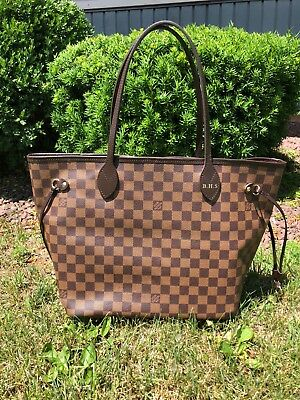 77056473a977 LOUIS VUITTON NEVERFULL MM Damier Ebene w  red lining -  1