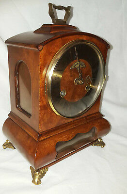 Warmink WUBA Vintage Mantel Shelf Dutch clock 8 day table striking beidt  uw tij