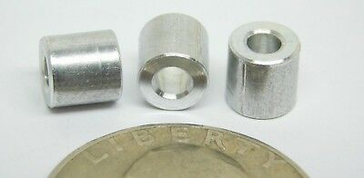 """25! (#4 Hole) x 1/4"""" Wide x 1/4"""" Length Spacers Standoff Aluminum Unthreaded NH"""