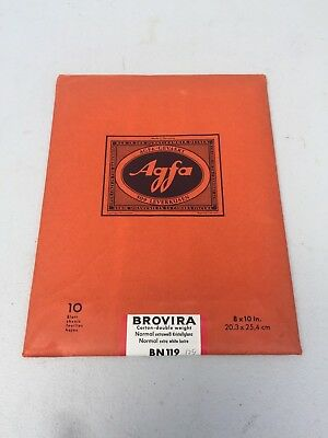 Agfa Brovira BN119 Carton Double Weight Normal Extra White Luster 10 sheets 8X10