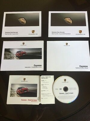 Porsche Cayenne 2013 Good To Know DVD And Owners Manual Booklets