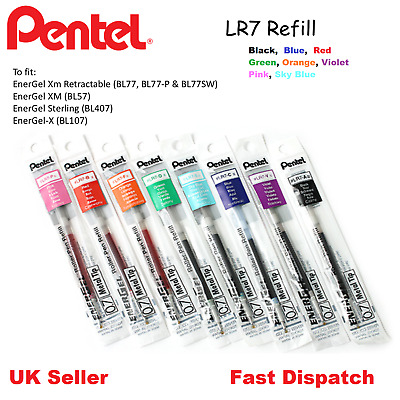 Pentel LR7 Refill For Energel BL77 BL57 BL407 BL107-0.7mm -ALL COLOURS AVAILABLE
