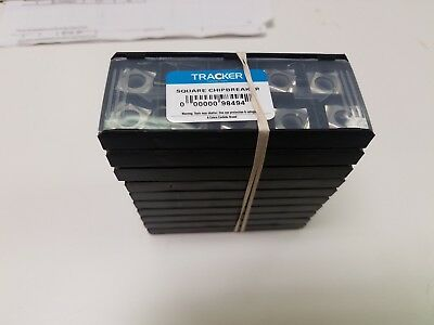 Square Chipbreaker Tracker Solid Carbide Milling Inserts *Special* LOT OF 100pcs