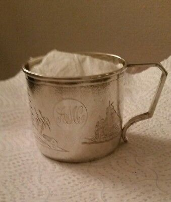 Solid Silver Antique Wai Kee Cup , Chinese 925 Fully Hallmarked Stunning