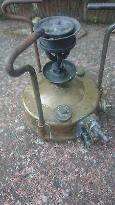 Antique Vintage Paraffin Camping Stove PRIMUS No 210,Sweden,Brass,Steampunk,Old