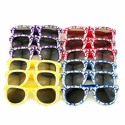24pk Kids Hibiscus Flower Luau Beach Sunglasses Props Party Favors LOT