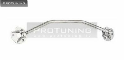 For E30 - Polished Aluminium Front Upper STRUT BRACE Bar Front Suspension Lower