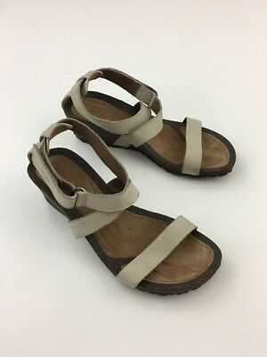 70d645b29a14 Teva Cabrillo Strap Wedge 2 Tan Leather Sandals Size Us 7.5 Womens 1007732
