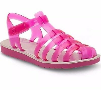 dec5e548cbfe NWT Toddler girls stride rite Natalie Jelly Sandal size 5 Magenta Pink