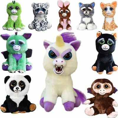 Feisty Pets Soft Plush Stuffed Scary Face Toys Animal With Attitude Gifts Xmas