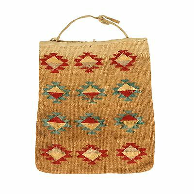 Nez Perce Cornhusk Bag Linen Fine Weave