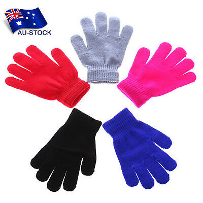 Baby Kids Knitted Full Finger Gloves Winter Warm Outdoor Sports Knitted Mittens
