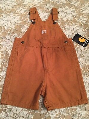 Nwt Carhartt Boys Toddler Bib Shortall Original Dungaree Fit  Size 3T  New