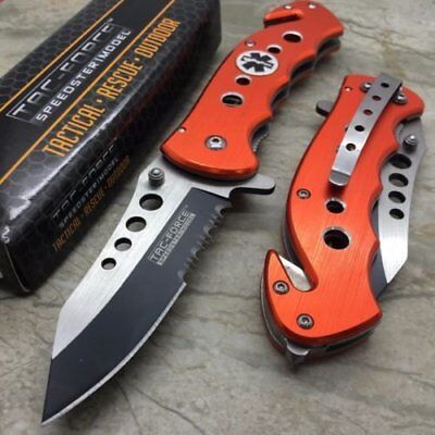TAC-FORCE Ambulance Medallion EMT EMS Emergency Tactical Rescue 1X Pocket Knife