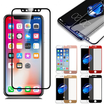 For iPhone X 6 7 8 Plus 3D Curved Full Coverage Tempered Glass Screen Protector