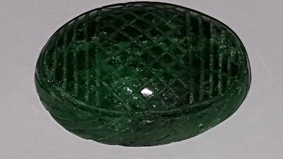 133ct Natural Brazilian emerald carved oval large 40 x 29 x 15
