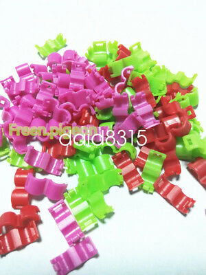 5mm*20 Bird Ring Leg Bands colors clip snap Finch Canar no serial number