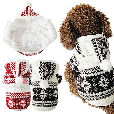 Winter Warm Dog Coat Chihuahua Clothes Pet Hoodie Puppy Costume Jacket Sightly
