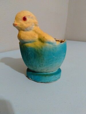 Vintage Baby Chicken Chick Paper mache candy container