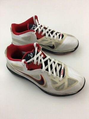 new concept 080c1 3f4dc Nike Air Max LEBRON IX 9 USA OLYMPIC WHITE OBSIDIAN BLUE RED 510811-101 sz