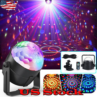 Mini Rgb Led Stage Light 3w Remote Controls Disco Ball Lights Home Party