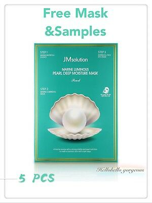 [JM Solution] Marine Luminous Pearl Deep Moisture Mask (1.5ml+25ml+1.5ml) X 5PCS