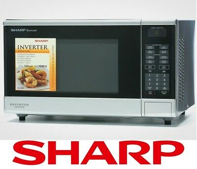 Sharp R350ys 1200w Inverter Sensor Microwave Oven Cook Stainless Steel Silver