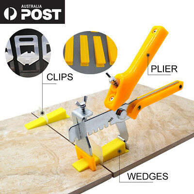 Tile Leveling System Clips Kit Levelling Spacer Tiling Tool Wall Floor