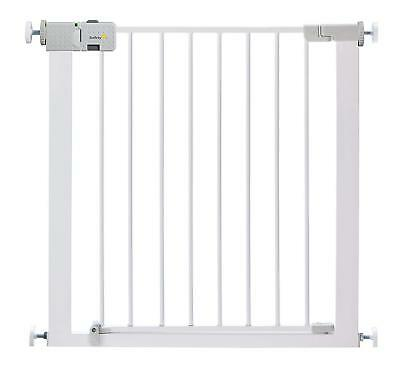 Child Baby Toddler Metal Safety White Stair Door Gate Pet Dog Barrier Fence
