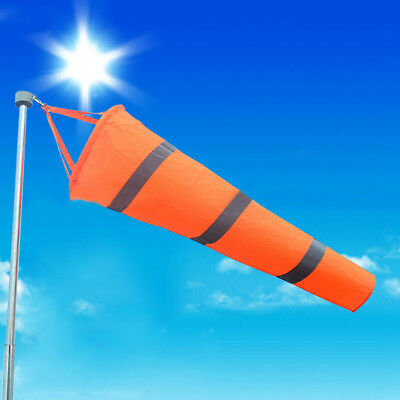 150cm Aviation Windsock Rip-stop Wind Measurement Sock Bag + Reflective Belt