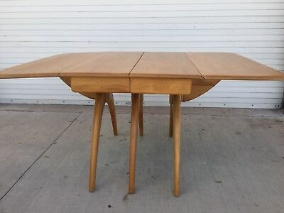Heywood Wakefield Butterfly Drop Leaf Wishbone Dining Table Refinished
