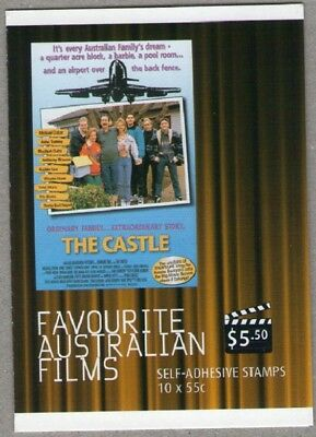 2008 STAMP BOOKLET FAVOURITE AUSTRALIAN FILMS - THE CASTLE - 10 x 55c STAMPS MUH