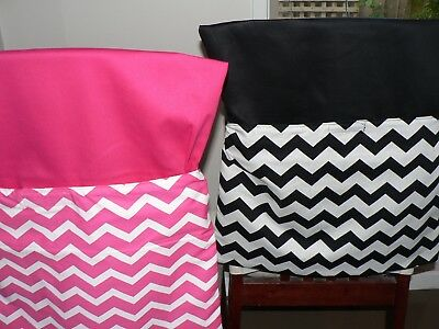 School Handmade Chair Bags First name Embroidered Free Chevron Prints
