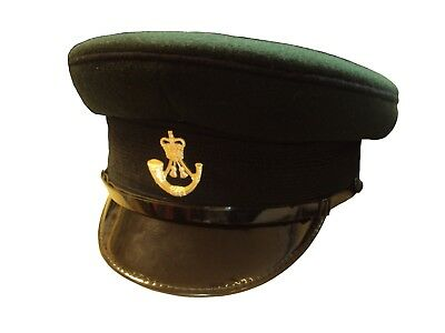 The RIFLES - Green PEAKED CAP - USED - 57cm - British ARMY - SP5065