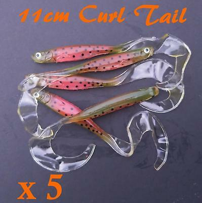 11cm Soft plastics Lures Bream Trout Fishing Lure Flathead Bass