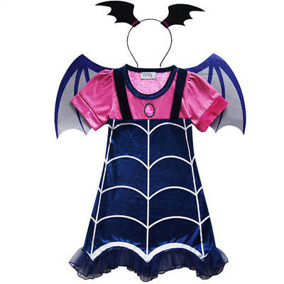 Vampirina Dress Wing Headwear Cosplay Girls' Fancy Party Dresses Costume Gift