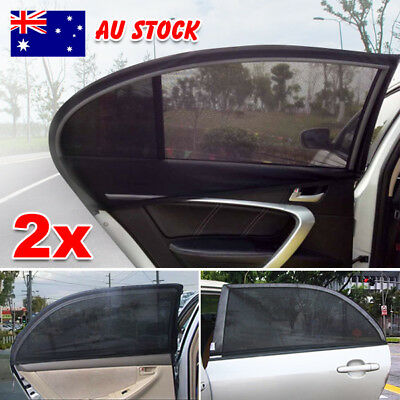 2x Car Window Shades Sun Cover Rear Side Kids Baby UV Protection Block Mesh