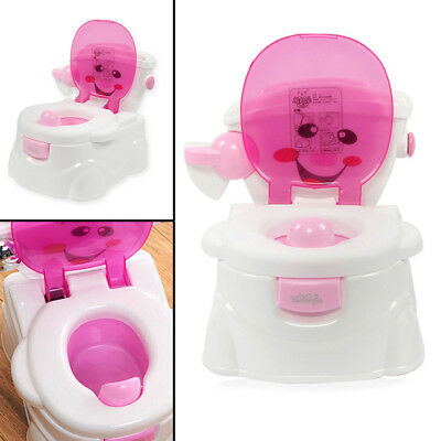2 in 1 Toddler Potty Training Seat Baby Kids Fun Toilet Trainer Chair
