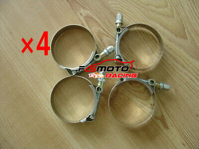 "3"" 76Mm T-Bolt Clamps Stainless Steel Hose Turbo Intake Intercooler 79-87Mm X4"