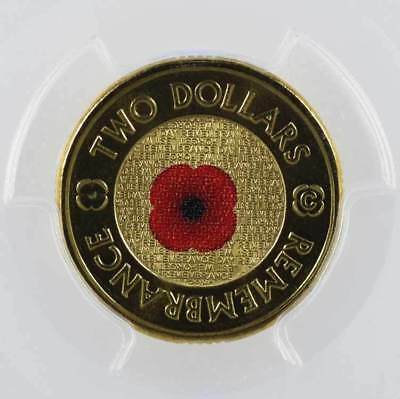 2012-C Australian $2 Remembrance Day Colored PCGS MS68 Superb Gem Unc RAM